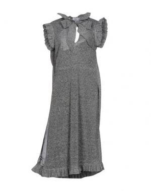 Платье длиной 3/4 VETEMENTS. Цвет: серый