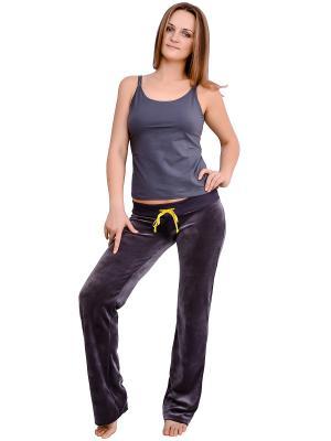 Спортивные брюки Flammber. Цвет: серый, желтый