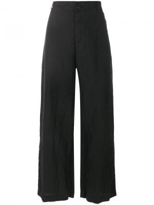 Cropped flared trousers Rundholz Black Label. Цвет: чёрный