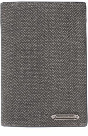Обложка для паспорта с принтом Ermenegildo Zegna. Цвет: темно-серый
