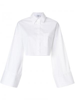 Укороченная рубашка с расклешенными рукавами Dondup. Цвет: белый
