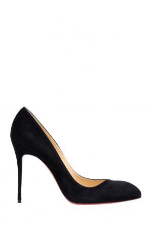 Замшевые туфли Corneille 100 Christian Louboutin. Цвет: черный