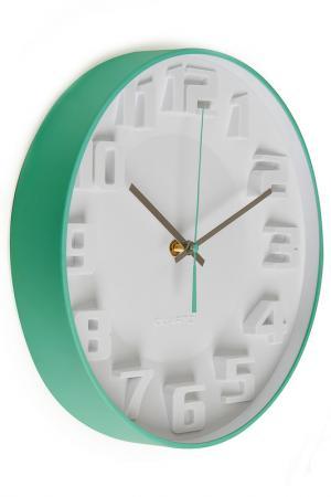 Настенные часы Миролюбие Brandani. Цвет: белый, светлый аквамарин