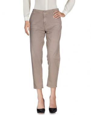 Повседневные брюки AG ADRIANO GOLDSCHMIED. Цвет: голубиный серый