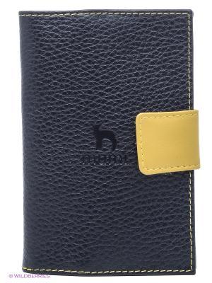 Обложка для паспорта Dimanche. Цвет: черный, желтый