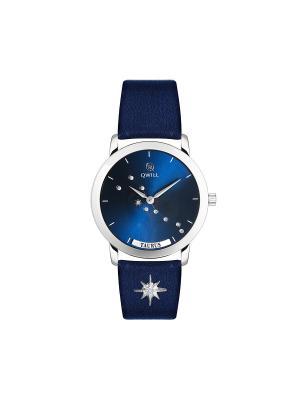 Часы ювелирные лимитированная коллекция Galaxy Taurus-Телец QWILL. Цвет: синий