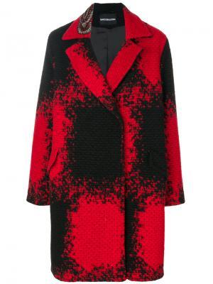 Однобортное пальто Marco Bologna. Цвет: красный
