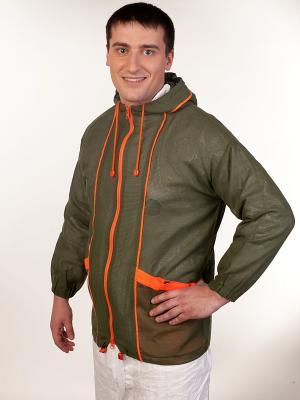 Антимоскитная куртка-накидка Биостоп. Цвет: серый