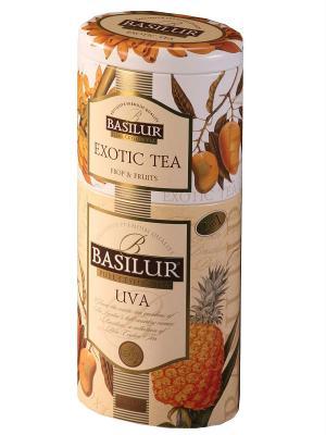 Чай Basilur 2 В 1 Ува - Экзотик Uva FBOP Exotic Tea. Цвет: белый, бежевый