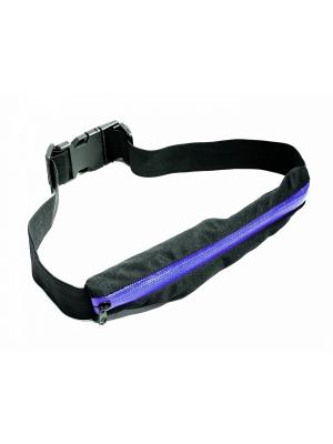 Ремень-кошелек эластичный, цвет синий BRADEX. Цвет: черный
