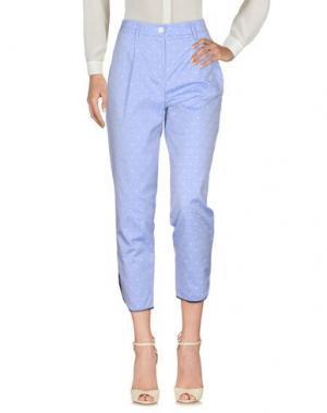 Повседневные брюки AGLINI. Цвет: небесно-голубой