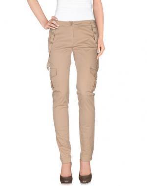 Повседневные брюки TWISTER. Цвет: песочный