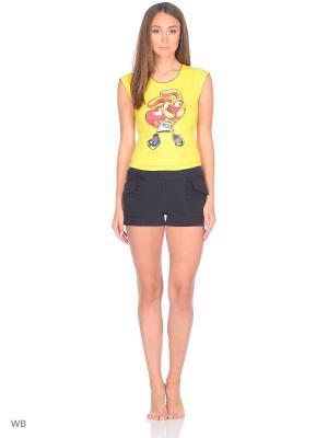 Пижама erteks. Цвет: черный, желтый