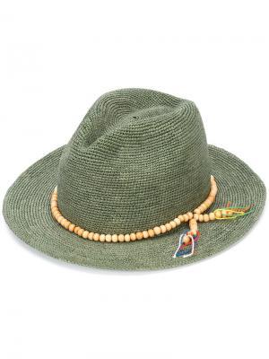 Шляпа Panama Crochet Sensi Studio. Цвет: зелёный