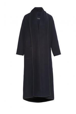 Пальто из шерсти 184157 Cyrille Gassiline. Цвет: синий
