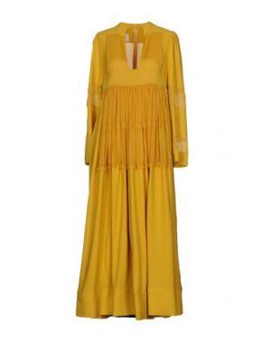 Длинное платье VALENTINO. Цвет: охра