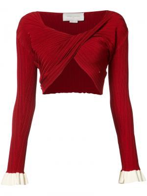 Twisted cropped sweater Esteban Cortazar. Цвет: красный