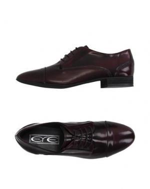 Обувь на шнурках EYE. Цвет: баклажанный