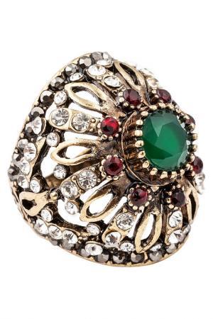 Кольцо Boho Chic. Цвет: зеленый, белый, красный