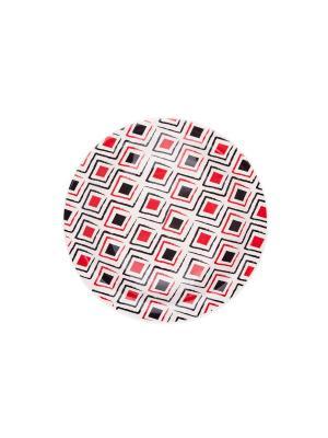 Набор тарелок десертных МАРАХО 20 см 6 шт Biona. Цвет: белый