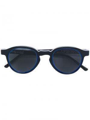 Солнцезащитные очки в округлой оправе Retrosuperfuture. Цвет: чёрный