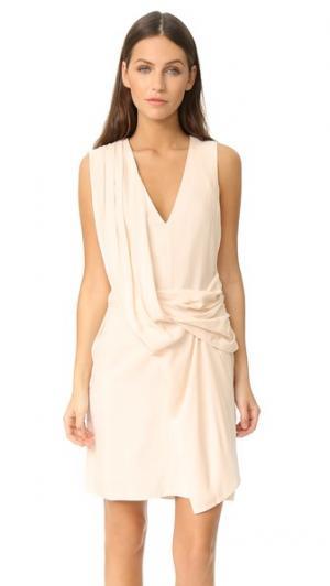 Драпированное платье Taft Brochu Walker. Цвет: олеандр