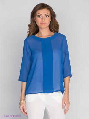 Блузка DRS Deerose. Цвет: синий