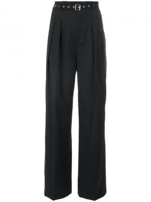 Широкие брюки со складками Iro. Цвет: чёрный