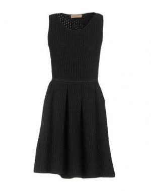 Короткое платье VICEDOMINI. Цвет: стальной серый