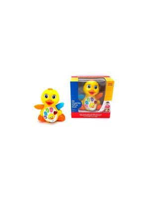 Игрушка детская Утка со звуковыми и световыми эффектами HUILE. Цвет: желтый, оранжевый