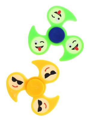 Спиннер, 2 шт. Happy Charms Family. Цвет: желтый, зеленый, синий