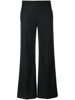 Creased cropped trousers Toteme. Цвет: чёрный