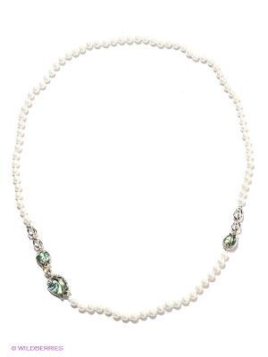 Колье Infiniti. Цвет: белый, зеленый, голубой, серебристый, прозрачный