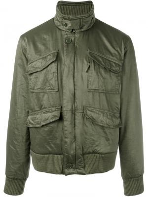 Куртка-бомбер Aspesi. Цвет: зелёный