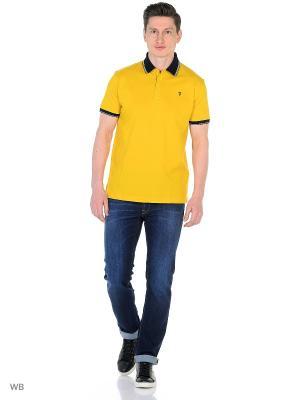 Футболка-поло Trussardi. Цвет: желтый