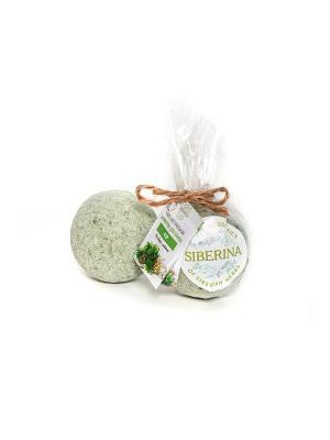 Набор бомбочек для ванны Кедр  2шт Siberina. Цвет: зеленый