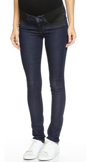Скульптурные джинсы-скинни для беременных Avedon Citizens of Humanity. Цвет: голубой