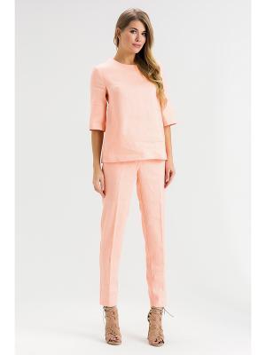 Брюки Xarizmas. Цвет: персиковый, бежевый, бледно-розовый