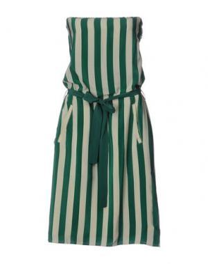 Короткое платье BEAYUKMUI. Цвет: изумрудно-зеленый