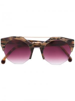 Солнцезащитные очки Patti Kyme. Цвет: коричневый