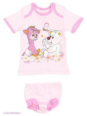 Комплекты одежды для малышей Русь симбирская. Цвет: розовый, светло-бежевый