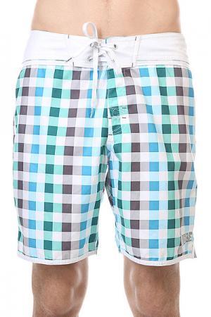 Шорты пляжные  Tablecloth Boardie Marine Globe. Цвет: белый,зеленый,синий,серый
