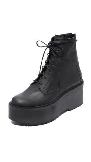 Армейские ботинки на платформе Plunge LD Tuttle. Цвет: голубой