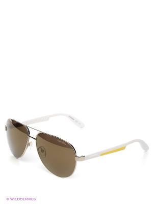 Солнцезащитные очки CARRERA. Цвет: коричневый, серебристый, белый