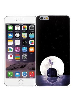 Чехол для iPhone 6+ Кит (черный) Kawaii Factory. Цвет: черный, белый, темно-синий