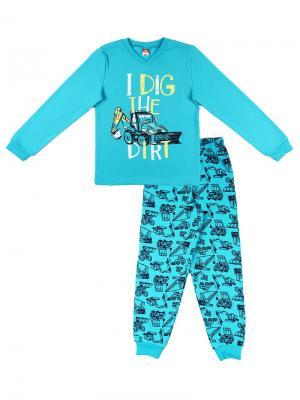 Пижама для мальчика Cherubino. Цвет: бирюзовый
