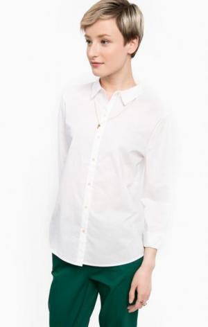 Белая рубашка прямого кроя Scotch&Soda. Цвет: белый