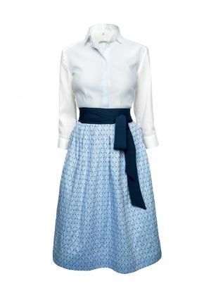 Платье Colletto Bianco. Цвет: голубой