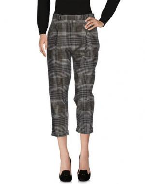 Повседневные брюки LOVLET. Цвет: зеленый-милитари