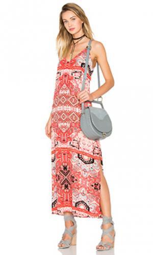 Макси-платье с вырезом v moroccan Eight Sixty. Цвет: красный